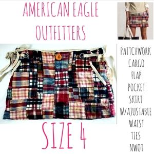 American Eagle Skirt Size 4 Patchwork Flap Cargo